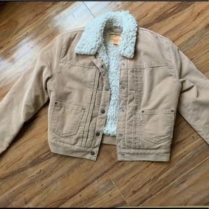 Levi's Sherpa Corduroy Blush colored jacket